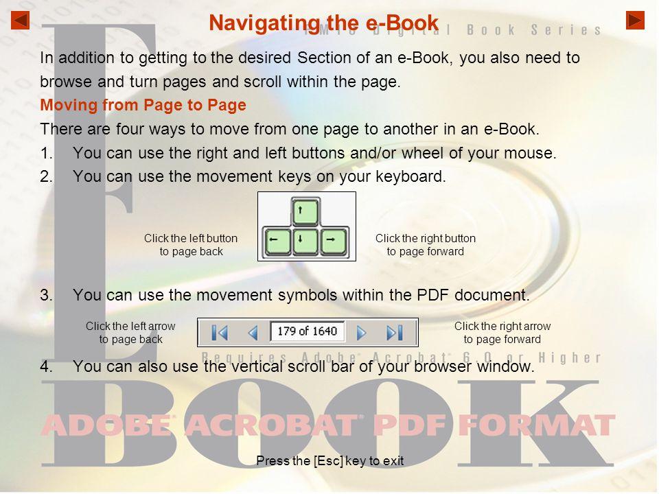 Press the [Esc] key to exit